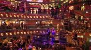 Cruise ship atrium lounge decks fast TL P HD 0984 Stock Footage