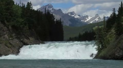 Bow Falls in Banff, Canada Stock Footage