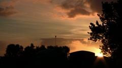 Hauraki Sunset 01 Stock Footage