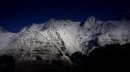 Mountain Top Snow 03 Stock Footage