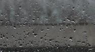 Rain On Pane 01 Stock Footage