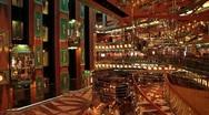 Cruise ship atrium bar elevators P HD 0906 Stock Footage