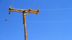 Utility Poles 1080p PJPEG 30fps Stock Footage