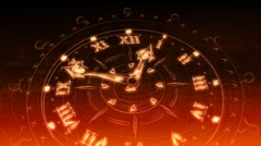 Sketched Watches In Red and Gold - Clock 21 (HD) Stock Footage
