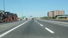 Highway onramp. Stock Footage