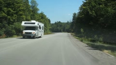 Summer RV. - stock footage
