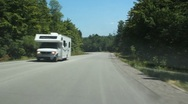 Stock Video Footage of Summer RV.