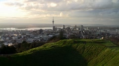 Auckland City Sunset 02 - stock footage