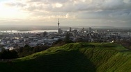 Auckland City Sunset 02 Stock Footage