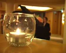 Candle In Glass 01 Stock Footage