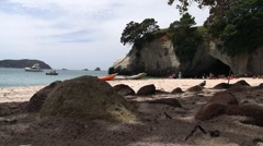 Cathedral Cove 02 Stock Footage