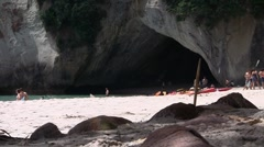 Cathedral Cove 04 Stock Footage