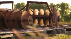 Farm Implements In Sun 01 - stock footage