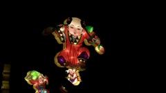 Man With Lotus Lantern 01 - stock footage