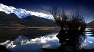 Mountain Lake Reflection 02 Stock Footage
