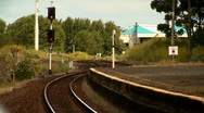 Railway Track 02 Stock Footage