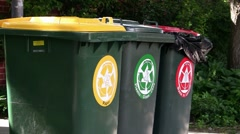 Recycle Bins 01 Stock Footage