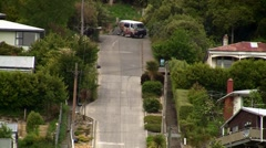Worlds Steepest Street 03 Stock Footage