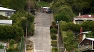 Worlds Steepest Street 03 Stock Footage