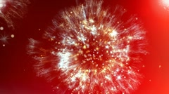 Snowflake happy new year red colorfull4 Stock Footage