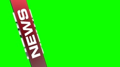 News redbox background green screen Left Stock Footage