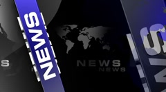News bluebox background v1 Stock Footage