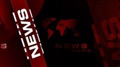 News FullREDcolor background Stock Footage