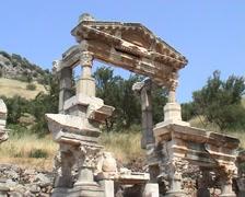 Ancient ruins of Ephesus   - stock footage