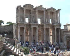 Ancient Ephesus library 19 Stock Footage