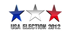 Election 2012 WEB banner WhiteScreen Stock Footage