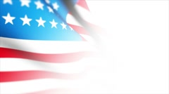 "USA Flag v3 white environment   "" Think Different "" Stock Footage"