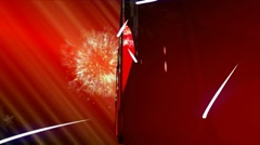 2012 Holiday red background Stock Footage