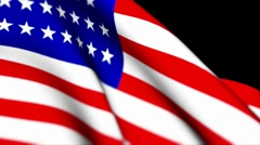 "USA original  Flag 1280x720 HD  +  "" Think Different "" Stock Footage"