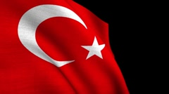 TURKISH original Flag 1080p Stock Footage