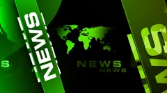 Stock Video Footage of News Vertical GREEN broadcast background
