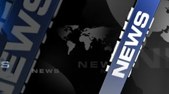 News Vertical BLUE broadcast background Stock Footage