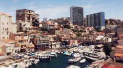 Timelapse of boats and yachts marseille france Stock Footage