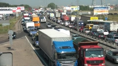 Traffic Congestion Time Lapse - stock footage