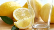 Water with lemons Stock Footage