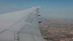 Aircraft flying over mid west P HD 9608 Stock Footage