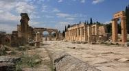 Hierapolis ancient city. Turkey Stock Footage