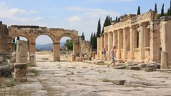 Hierapolis ancient city. Turkey Stock Footage