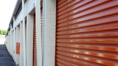 Personal Storage Facility Zoom 3 Stock Footage