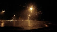 Chasing the storm - series - inside a torrential monsoon storm dash cam pt A - 4 - stock footage