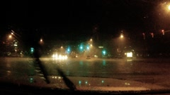 Chasing the storm - series - inside a torrential monsoon storm dash cam pt A - 3 - stock footage