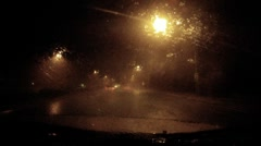 Chasing the storm - series - inside a torrential monsoon storm dash cam pt A - 2 - stock footage