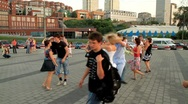 Young people dancing salsa. Stock Footage