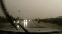 Chasing the storm - series - inside a torrential monsoon storm dash cam pt B 9 - stock footage