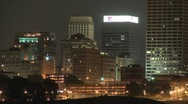 Stock Video Footage of memphis skyline CU timelapse