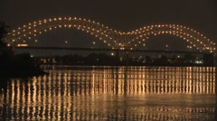 Memphis bridge timelapse Stock Footage